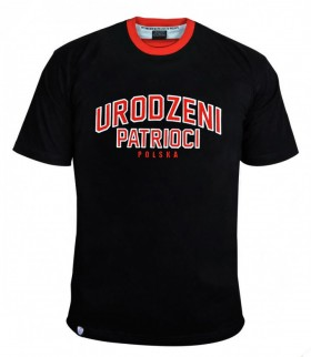 Koszulka patriotyczna Urodzeni Patrioci czarna