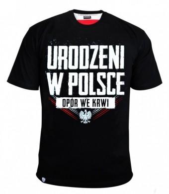 Koszulka opór we krwi-Urodzeni w Polsce