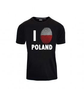 Koszulka I Love Poland Odcisk