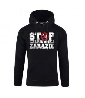 Bluza z kapturem Stop czerwonej zarazie