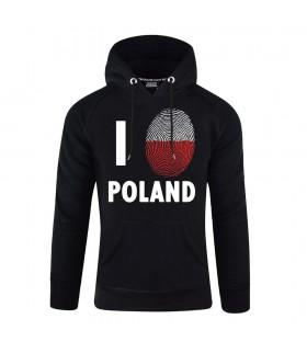 Bluza z kapturem I Love Poland Odcisk