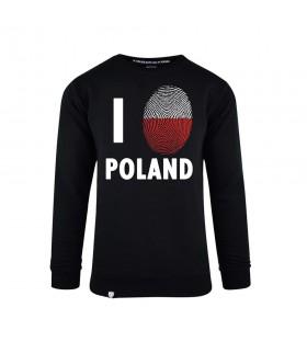 Bluza męska I Love Poland Odcisk