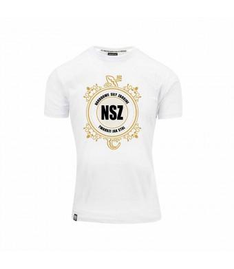 Biała Koszulka NSZ Twardzi jak Stal